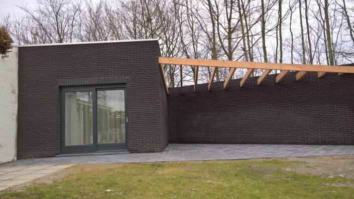 Houtskelet aanbouw Grote Christoffelstraat 33 Retranchement